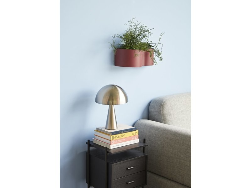 Hubsch Table lamp metal - nickel ø25xh33cm