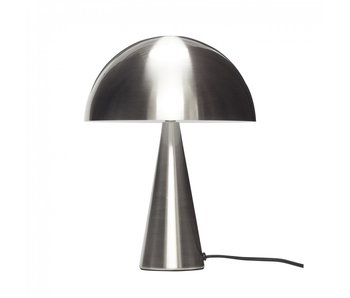 Hubsch Lampada da tavolo in metallo - nichel ø25xh33cm