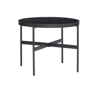 Hubsch Coffee table metal / glass - black