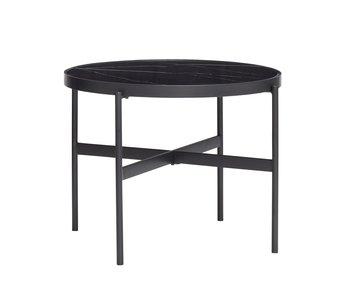 Hubsch Table basse métal / verre - noir
