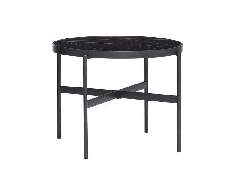 Hubsch Coffee table metal / glass - black