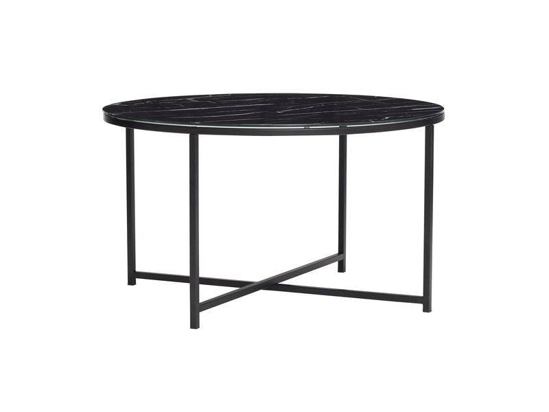 Hubsch Coffee table metal / glass - marble black