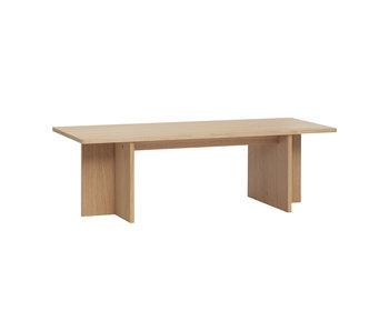 Hubsch Tavolino in legno di rovere - naturale