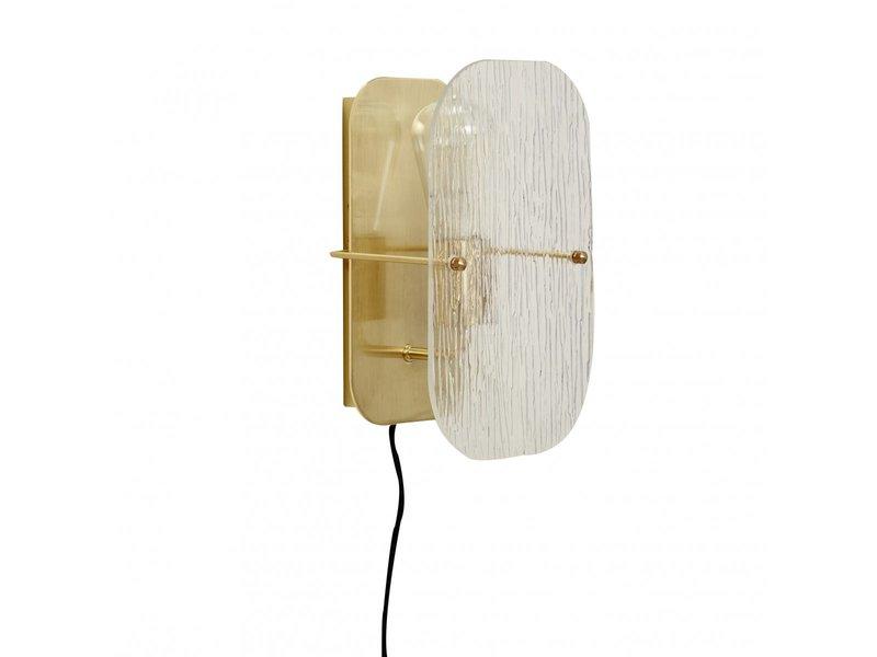 Hubsch Wall lamp metal / glass - gold