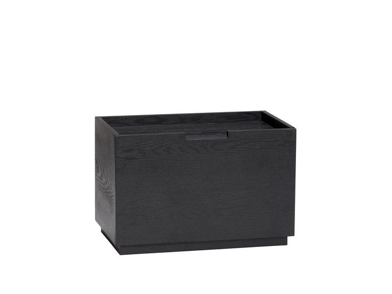 Hubsch Holzkiste / Koffer - schwarz