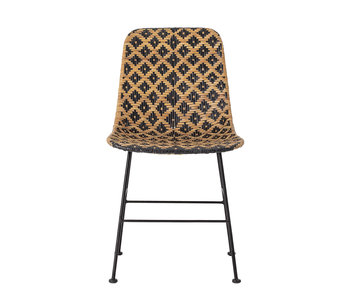 Bloomingville Chaise de salle à manger en rotin Kitty - noir