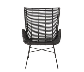 Bloomingville Erika Lounge chair rattan - black