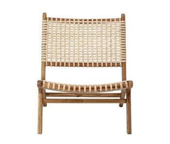 Bloomingville Fauteuil Keila Lounge en bois de teck - naturel
