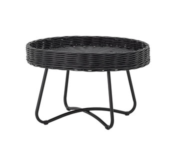 Bloomingville Table basse en rotin Hattie - noir