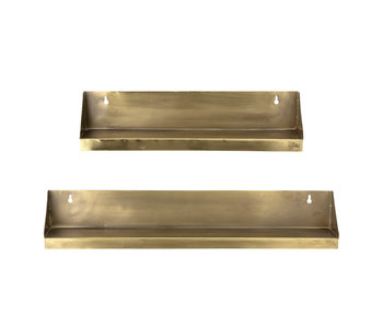 Bloomingville Lina wall shelf set - brass