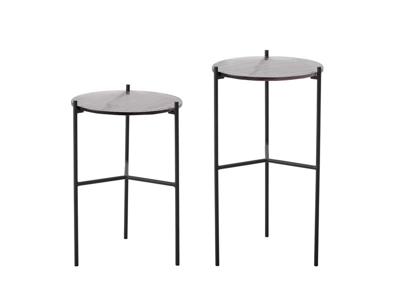 Bloomingville Cille side table set - glass