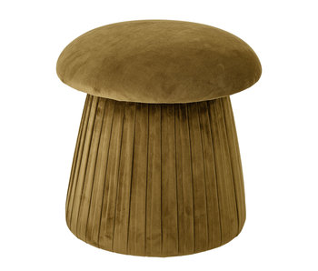 Bloomingville Pouf Roberta in velluto - marrone