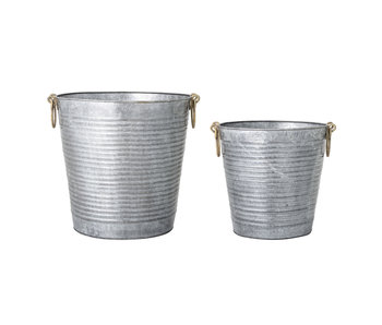 Bloomingville Flowerpot set gray - metal