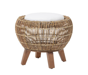 Bloomingville Tabouret Sue naturel - rotin