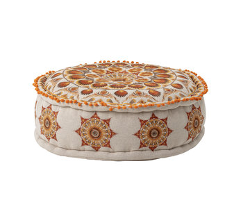Bloomingville Dora pouf multicolour - cotton
