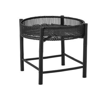 Bloomingville Table d'appoint Carolina noir-bambou