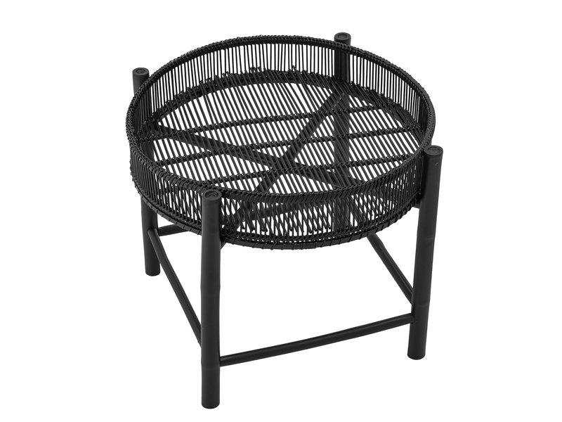 Bloomingville Carolina side table black-bamboo