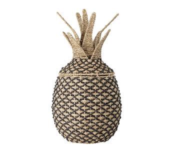 Bloomingville Mini Cesto di ananas con coperchio