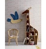 Bloomingville Mini Boekenkast giraffe - zeegras