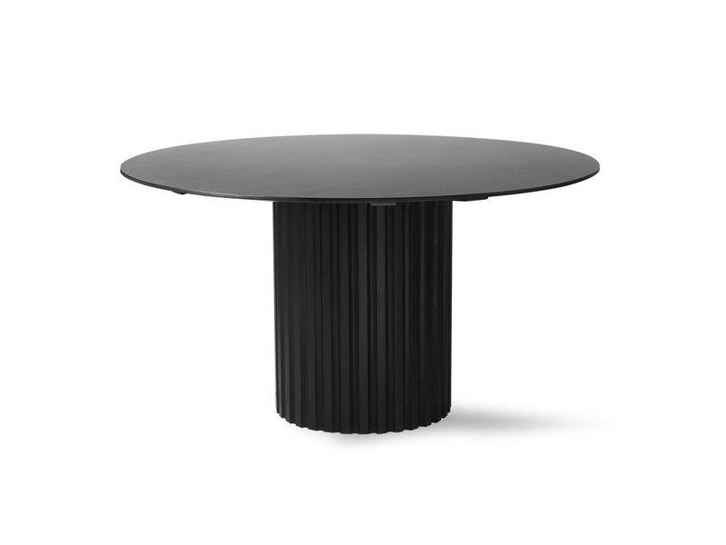 HK-Living Pillar eettafel rond zwart