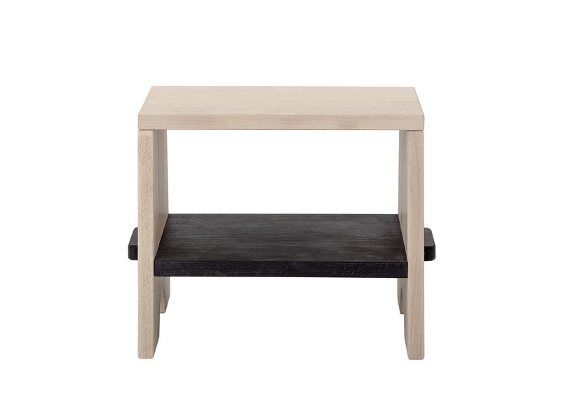 Bloomingville Mini Beech wood stool - natural / black