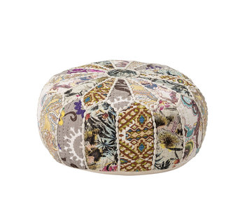 Bloomingville Mini Pouf en coton - multicolore