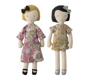 Bloomingville Mini Bambole coccole in cotone - set di 2 pezzi