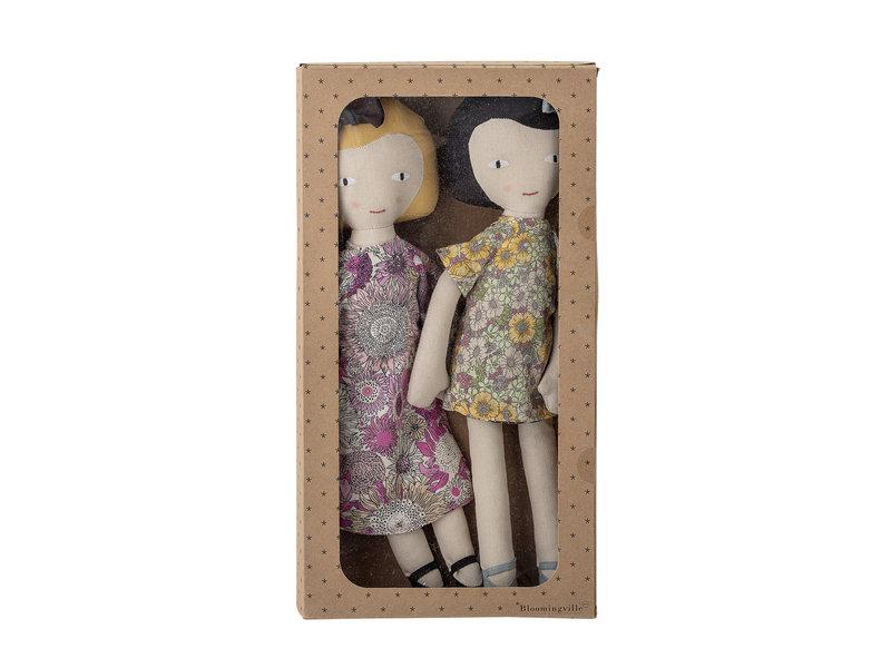 Bloomingville Mini Knuffel poppen katoen - set van 2 stuks