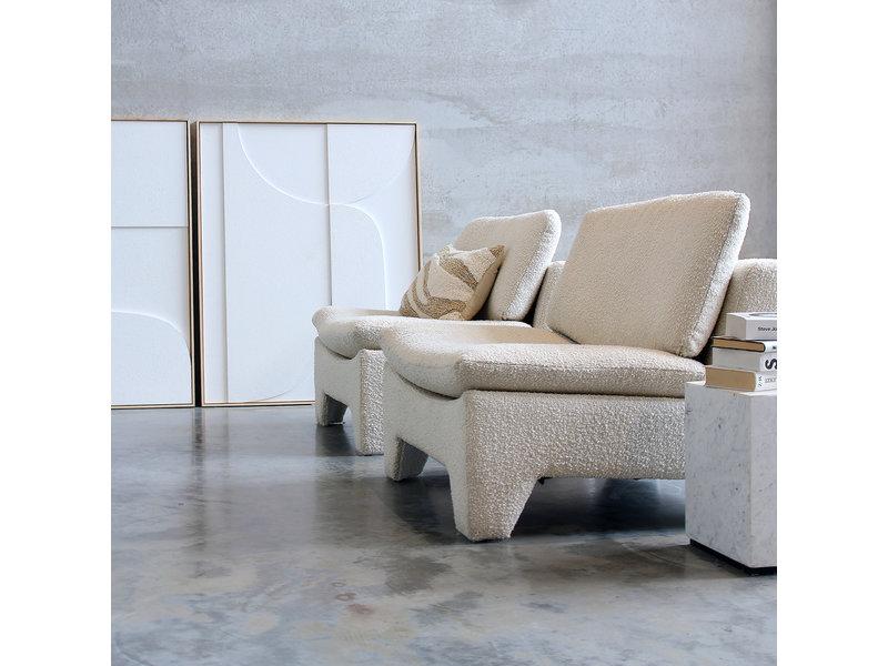 HK-Living Retro lounge armchair boucle cream