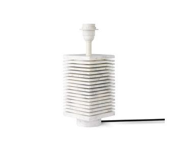 HK-Living Ribbed lamp base white marble