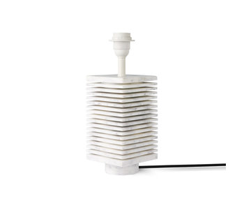 HK-Living Ribbet lampe base hvid marmor