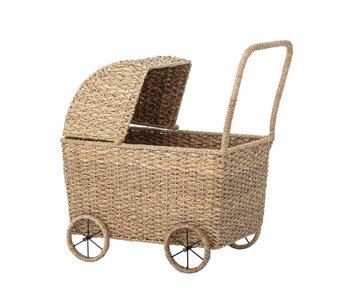 Bloomingville Mini Dukke barnevogn - naturlig