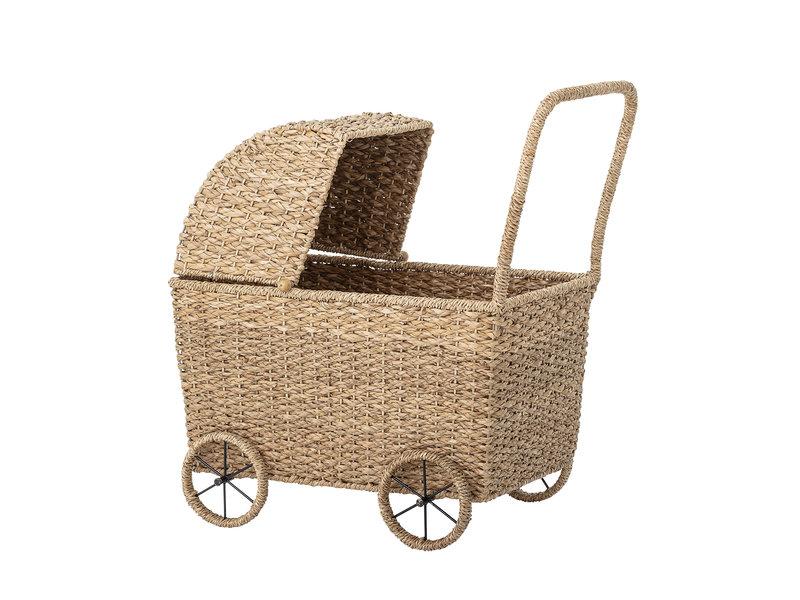 Bloomingville Mini Poppenwagen - naturel