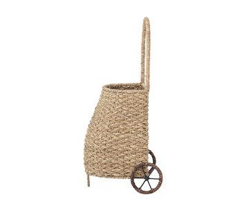 Bloomingville Mini Carrello in rattan - naturale