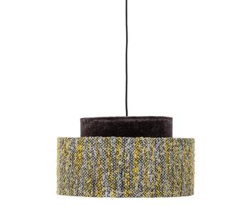 Bloomingville Lampe suspendue jaune - soie