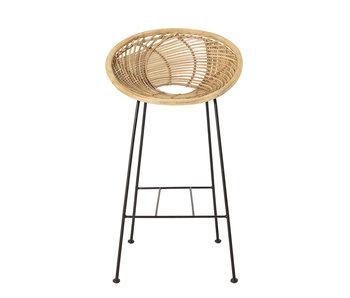 Bloomingville Yonne bar stool rattan - natural