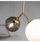 House Doctor Twice hanglamp messing met wit en grijze kap