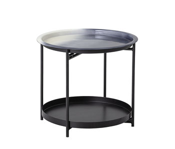 Bloomingville Table d'appoint Adelina métal - gris
