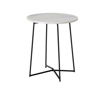 Bloomingville Anou side table marble - white