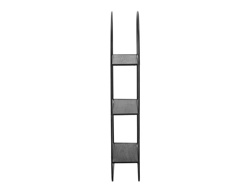 Bloomingville Spiegel met planken metaal - zwart