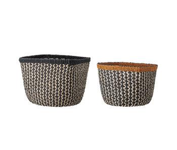 Bloomingville Basket of abaca - set of 2