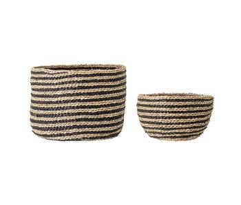 Bloomingville Seagrass basket - naturlig - uppsättning av 2 delar