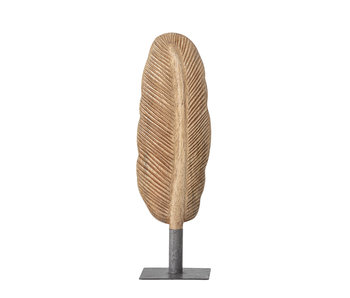 Bloomingville Decoration feather wood - brown 8x27cm