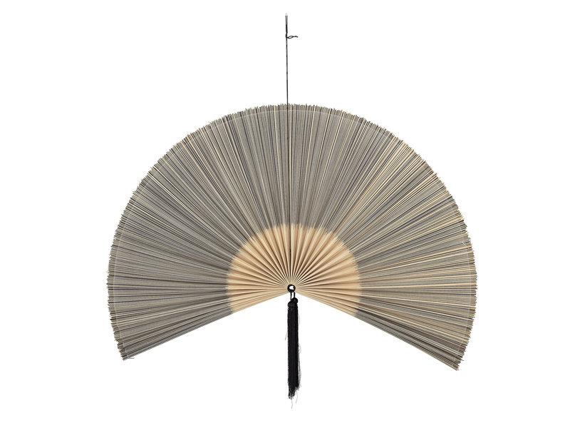 Bloomingville Wanddecoratie bamboe/katoen - zwart