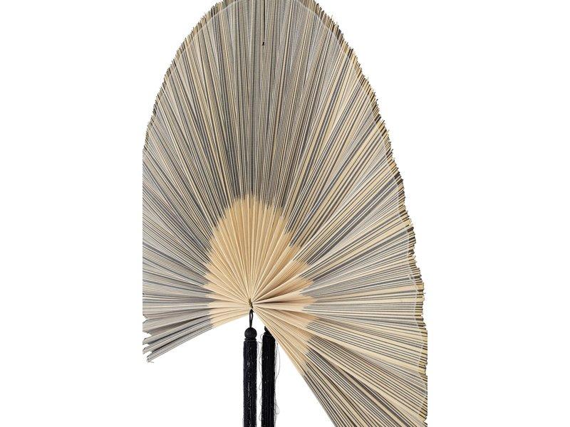 Bloomingville Wanddekoration Bambus / Baumwolle - schwarz