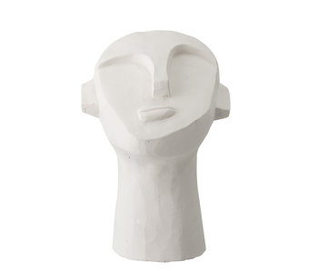 Bloomingville Decoration statue cement - white