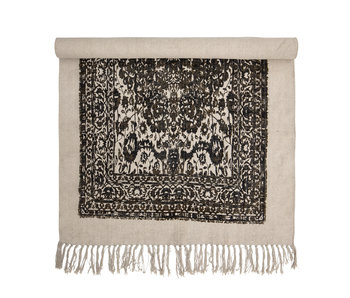 Bloomingville Cotton rug - black