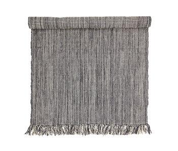 Bloomingville Tapis en coton - gris