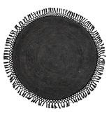 Bloomingville Teppich runde Jute schwarz - Ø122 cm