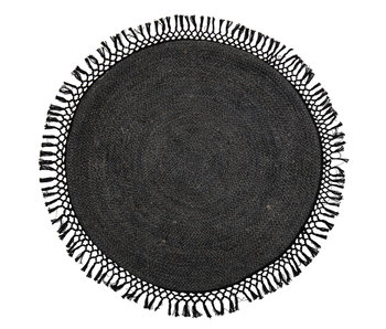Bloomingville Rug rund jute sort - Ø122 cm